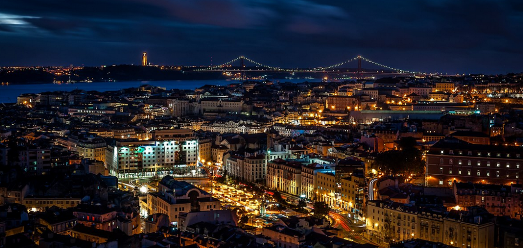 Lisbon viewpoint, one of the top 50 safest cities in the world